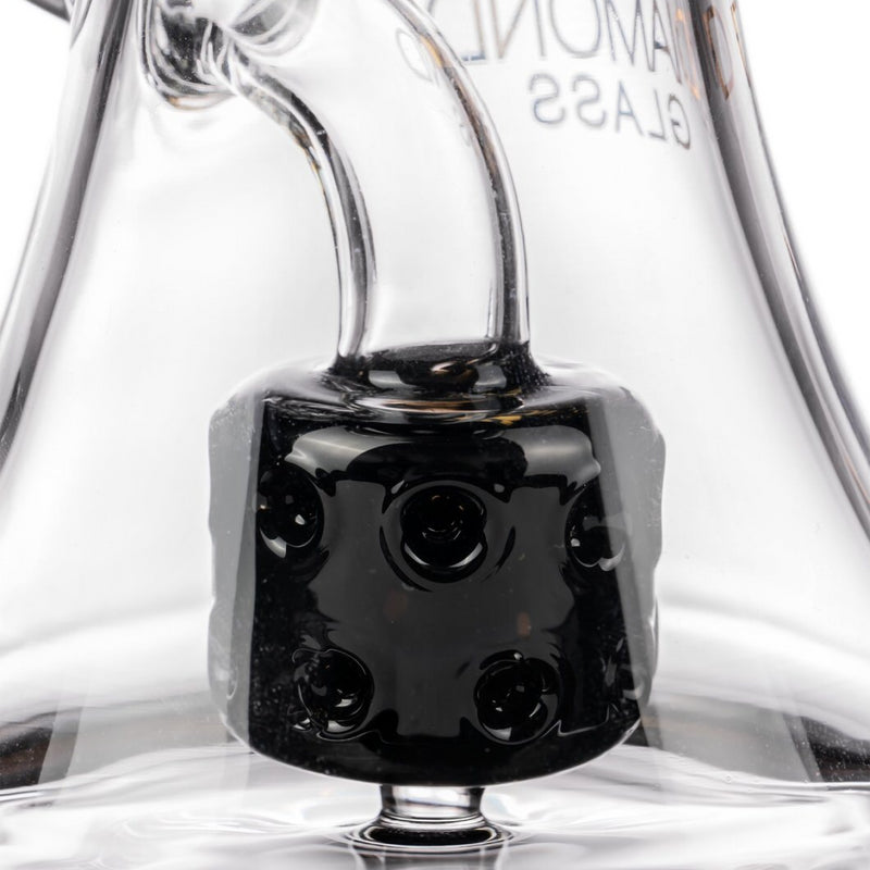 "Diamond Glass 9"" Big Puck Dab Rig Water Pipe 🌿🍯"
