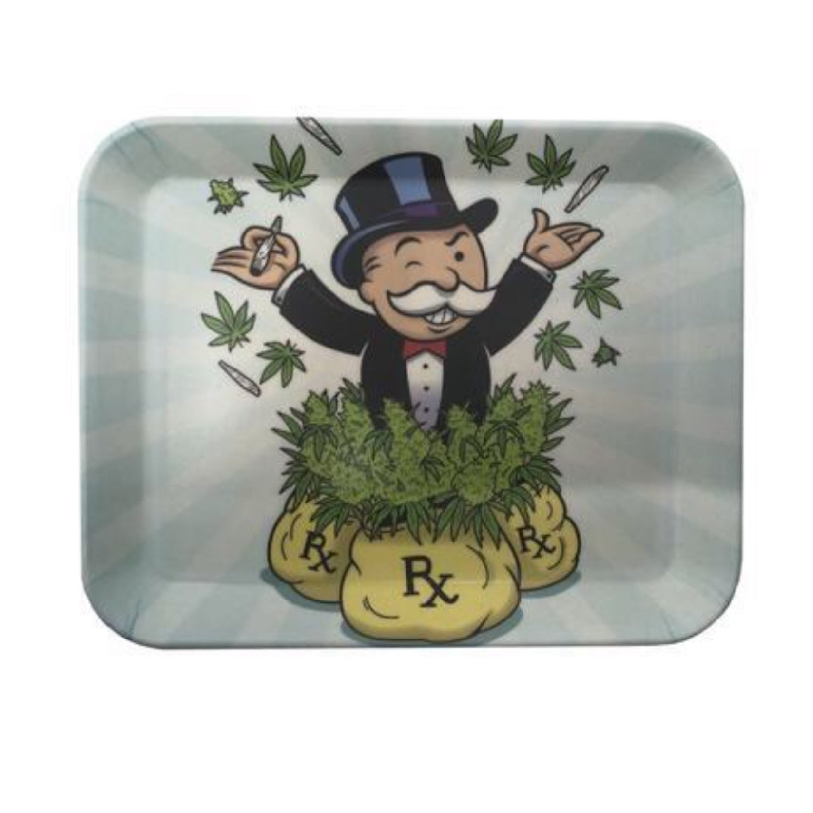 "Limited Edition ""Mary Jane Monopoly Man"" Bamboo Fiber Rolling Tray"