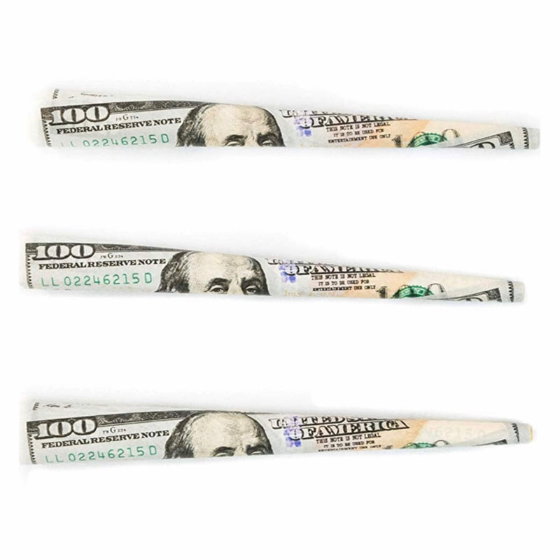 Empire Rolling $100 Dollar Bill Pre-Rolled Cones w. Tips