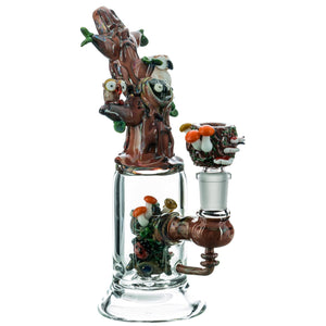 "Empire Glassworks ""Hootie's Tree"" Water Pipe 🦉"