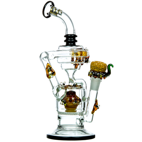 Empire Glassworks Large Beehive Recycler Water Pipe 🐝
