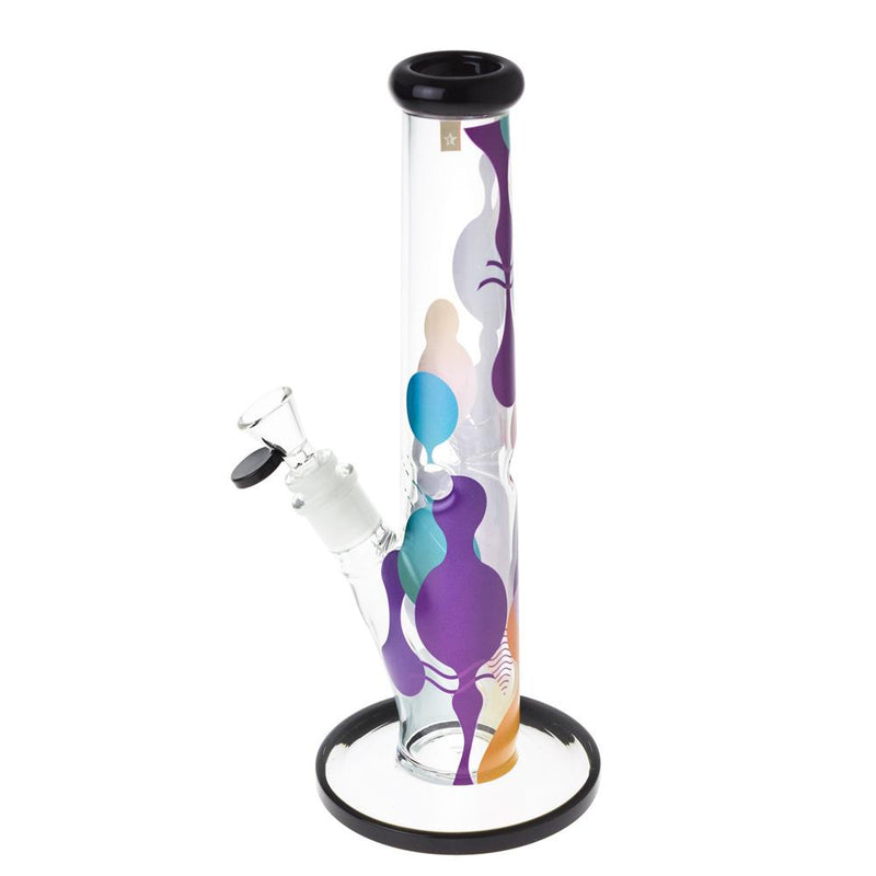 "Famous X Panorama 12"" Straight Tube Bong"