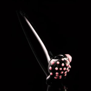 Solid Black Gandalf Pipe with Colored Dots, CaliConnected Online Smoke Shop