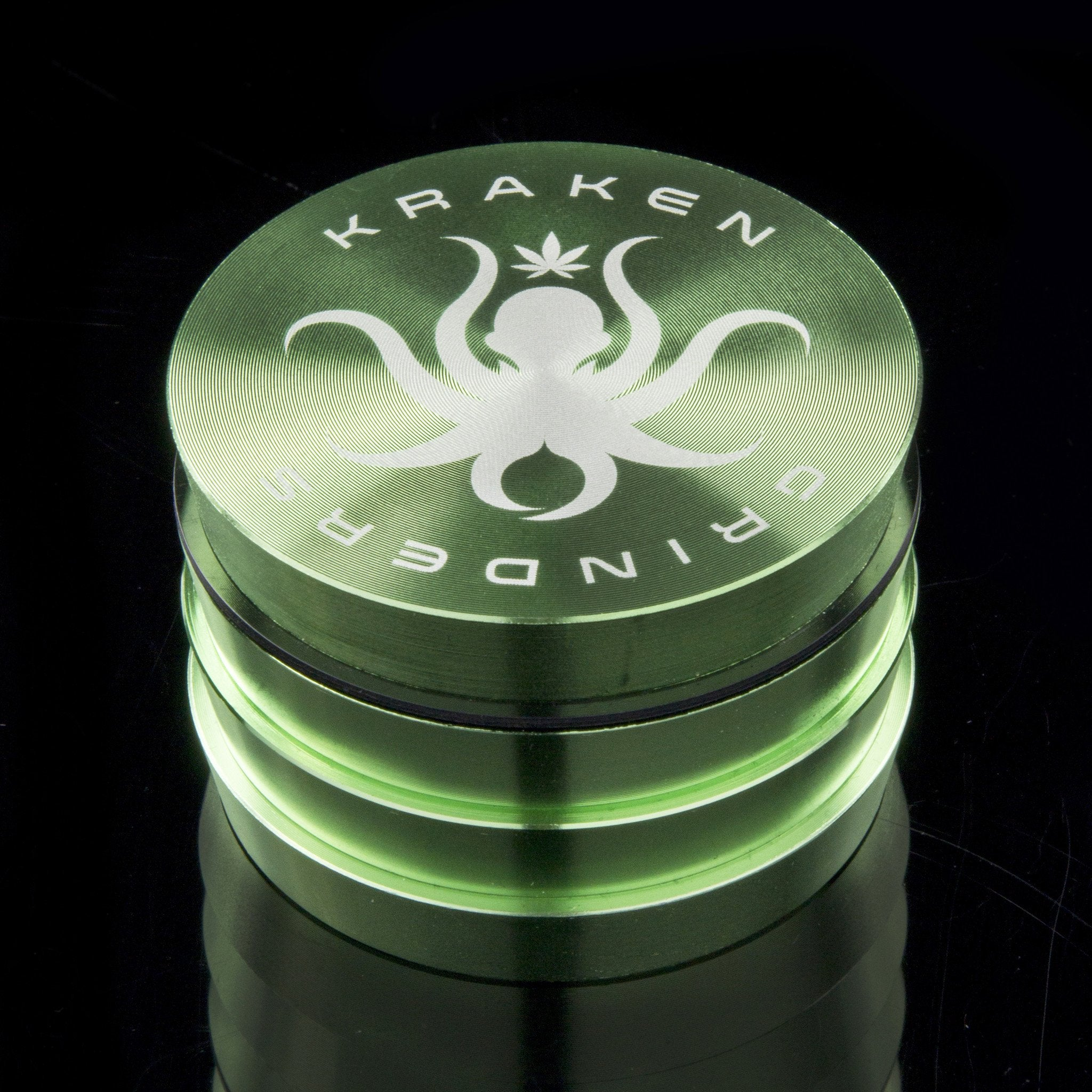 "Kraken 4-part Tiered Solid Color Grinder - 2.2"" or 2.5"""