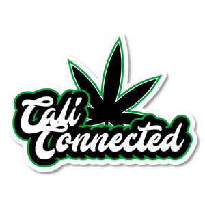 CaliConnected Die Cut Weed Leaf Sticker