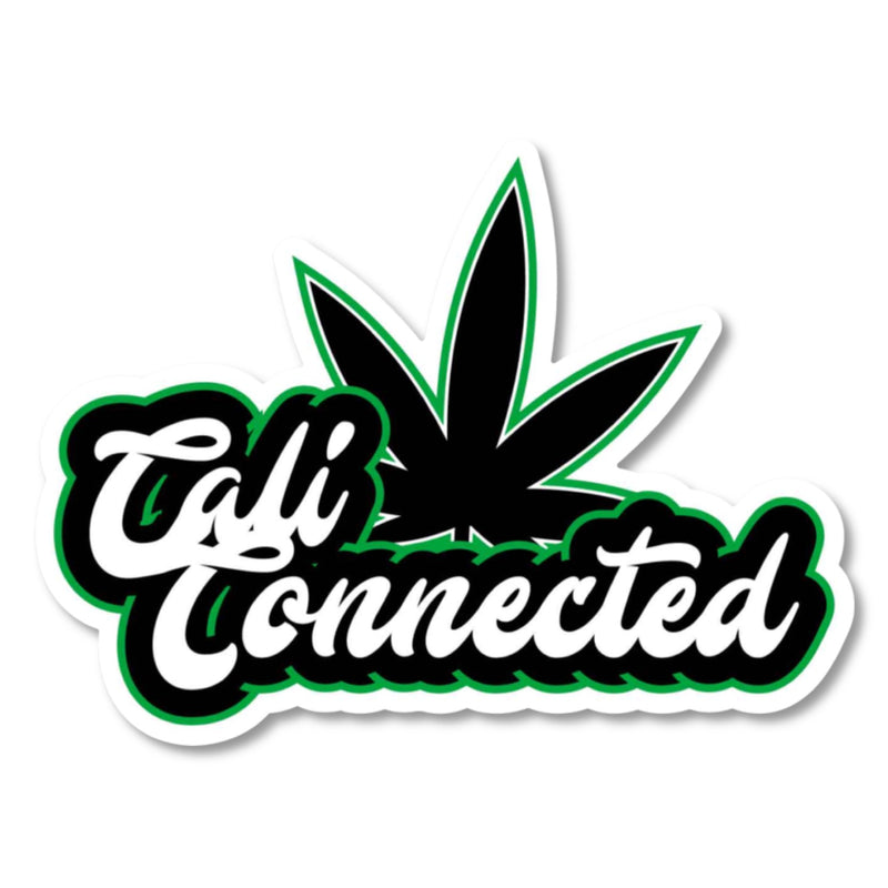 CaliConnected® Large Die Cut Weed Leaf Sticker 🍁