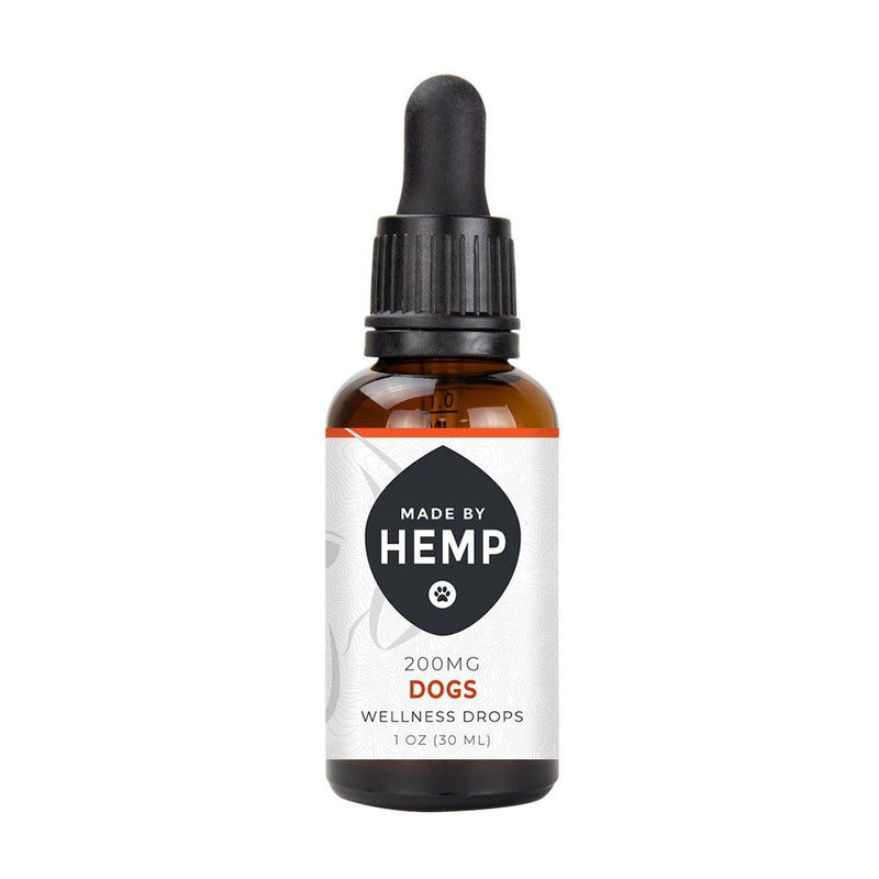 Made by Hemp Wellness Drops for Dogs (1oz, 200-500mg CBD) 🐶