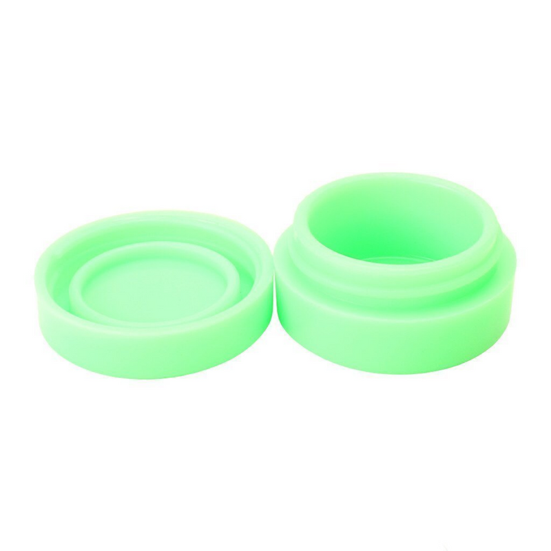 NoGoo Glow in the Dark Non-Stick Silicone Containers (5-Pack)