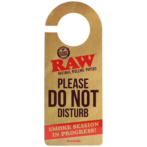 "Raw® Rolling Papers ""Do Not Disturb"" Door Sign"