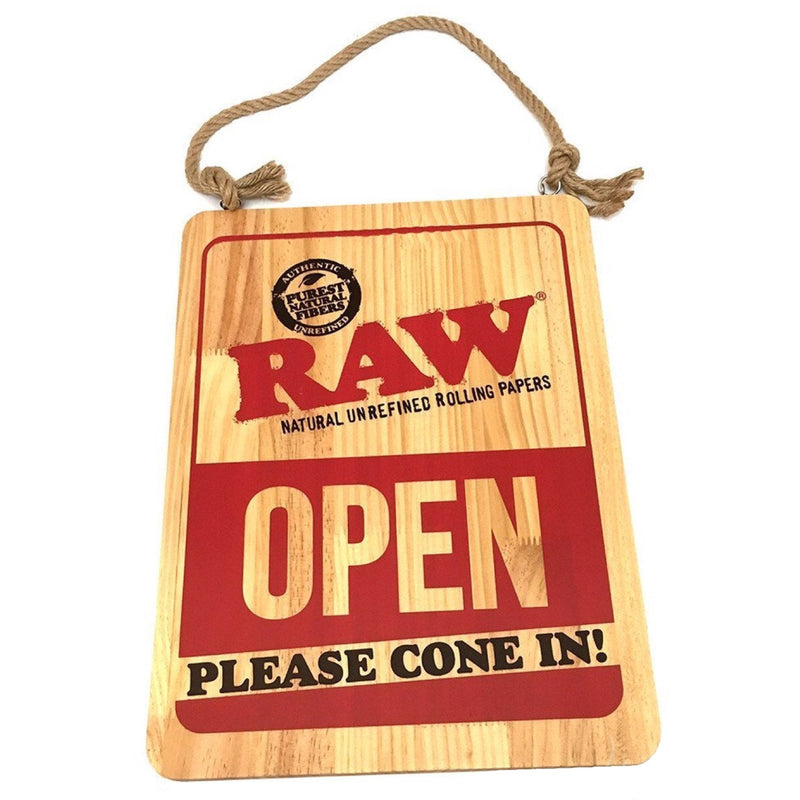 Raw® Rolling Papers Open/Closed Wooden Sign