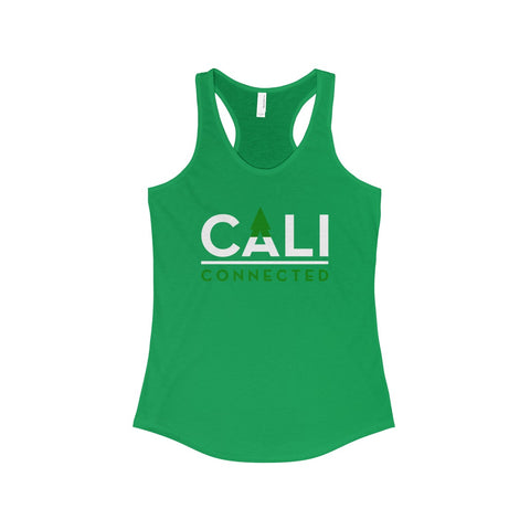 CaliConnected Women's Slim Fit Green Racerback Tank, CaliConnected Online Smoke Shop