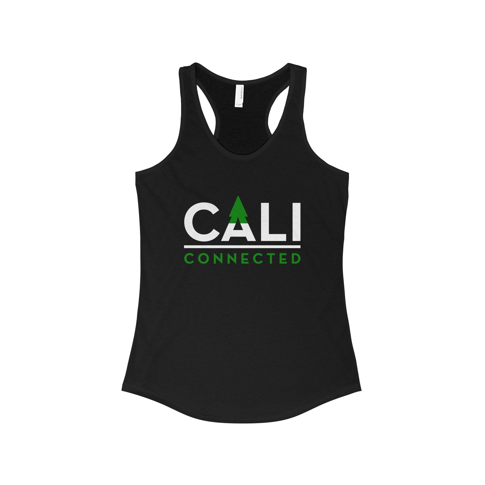 CaliConnected Women's Slim Fit Black Racerback Tank