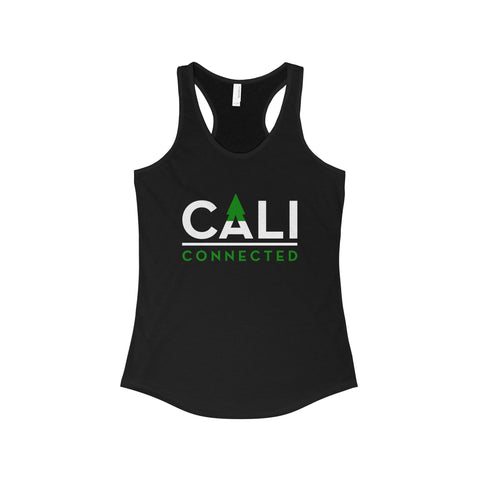 CaliConnected Women's Slim Fit Black Racerback Tank, CaliConnected Online Smoke Shop