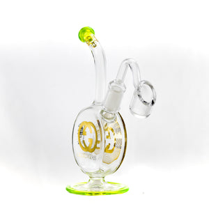 Gilded Glass 24k Bubbler Disc Dab Rig