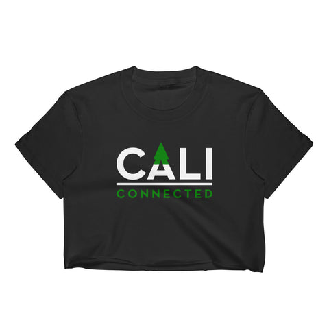 CaliConnected Women's Black Crop Top - CaliConnected - Affordable wax and dry herb vaporizers eRigs & eNails, high quality glass bongs, cheap water pipes, wax concentrate dab rigs and unique smoking accessories at the best online smoke shop - CaliConnected Online Headshop