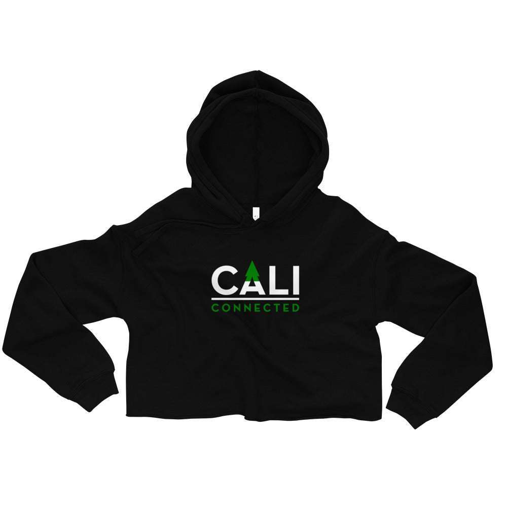 CaliConnected Black Crop Top Hoodie