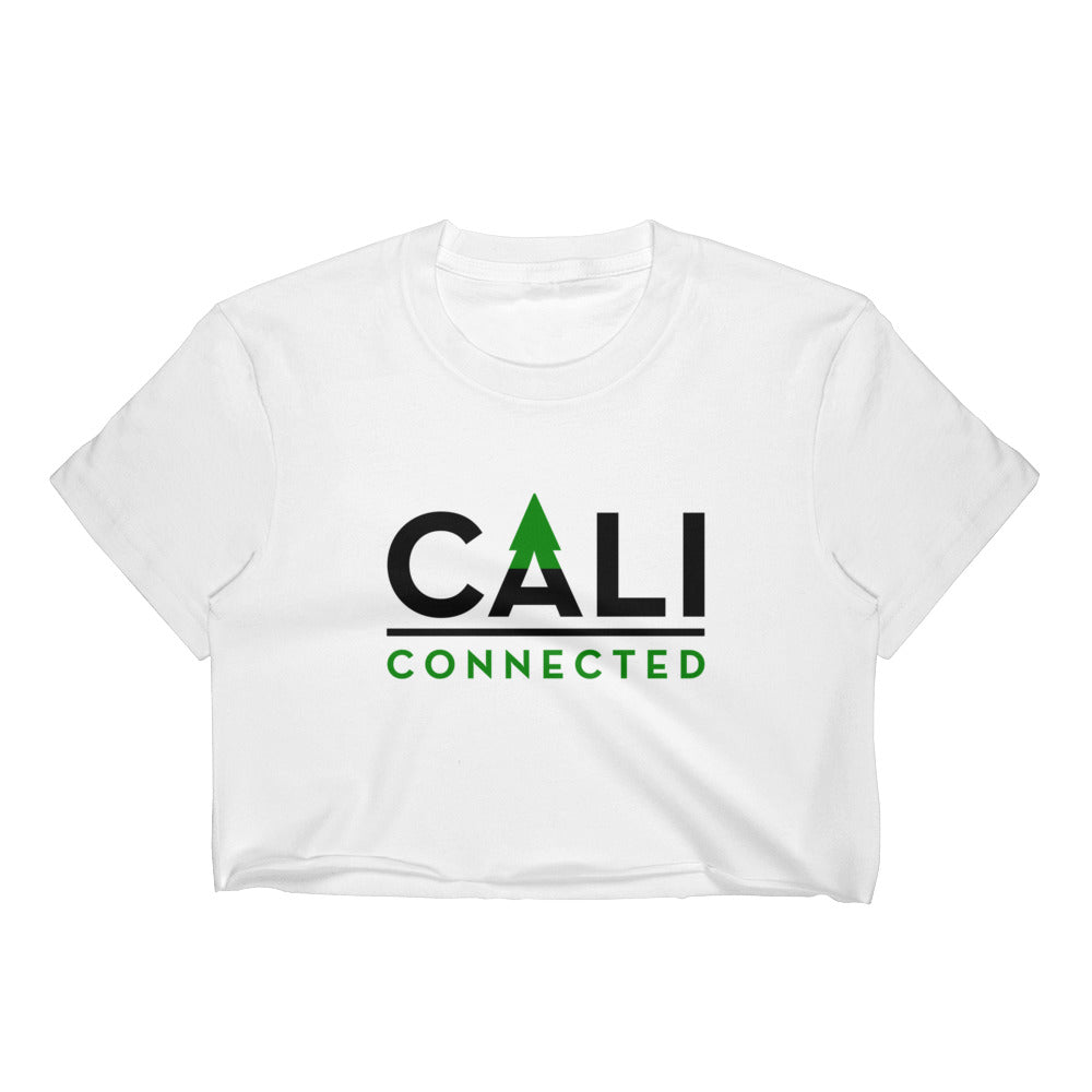CaliConnected Women's White Crop Top