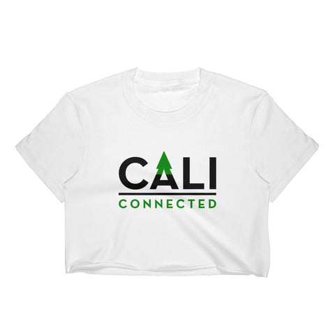 CaliConnected Women's White Crop Top - CaliConnected - Affordable wax and dry herb vaporizers eRigs & eNails, high quality glass bongs, cheap water pipes, wax concentrate dab rigs and unique smoking accessories at the best online smoke shop - CaliConnected Online Headshop