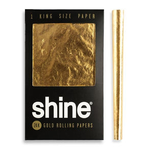 Shine 24K Gold Rolling Paper - King Size, CaliConnected Online Smoke Shop