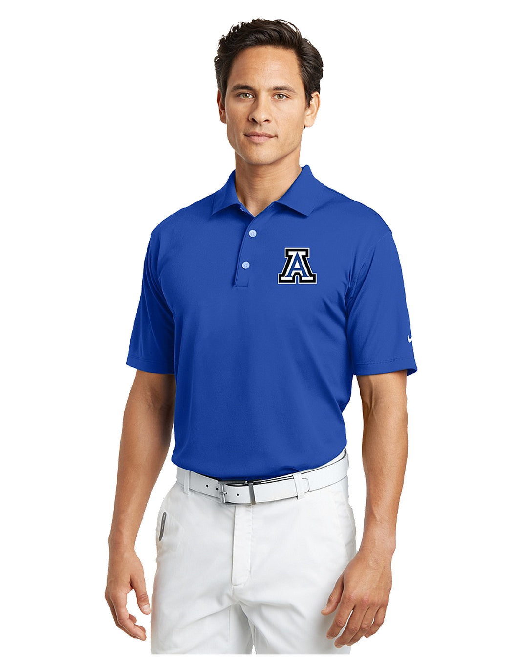 Nike Tech Basic Dri-FIT Polo Royal with Embroidered Acalanes