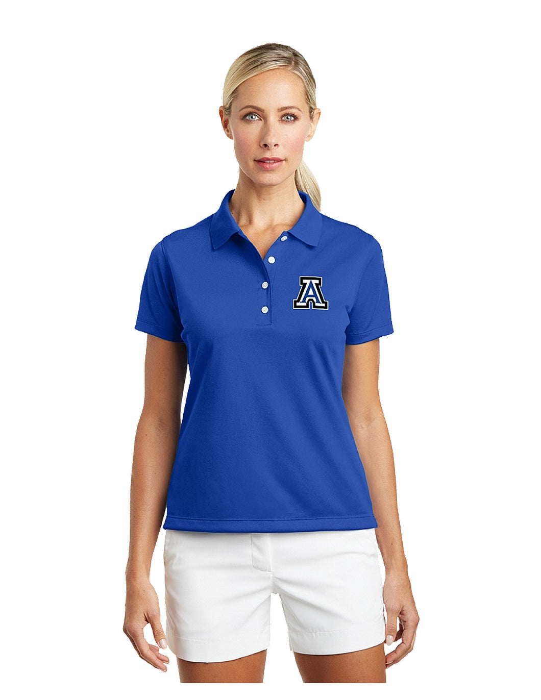 Nike Ladies Tech Basic Dri-FIT Polo Royal with Embroidered Acalanes