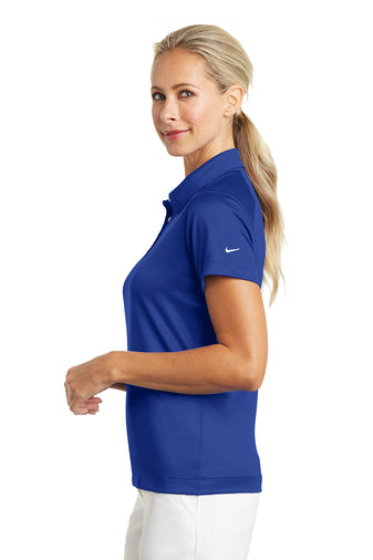 6ce86fe2 ... Nike Ladies Dri-FIT Pebble Texture Polo Royal with Embroidered Acalanes