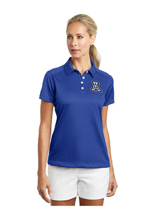 "Nike Ladies Dri-FIT Pebble Texture Polo Royal with Embroidered Acalanes ""A"" Logo"