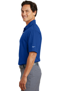 "Nike Dri-FIT Pebble Texture Polo Royal with Embroidered Acalanes ""A"" Logo"