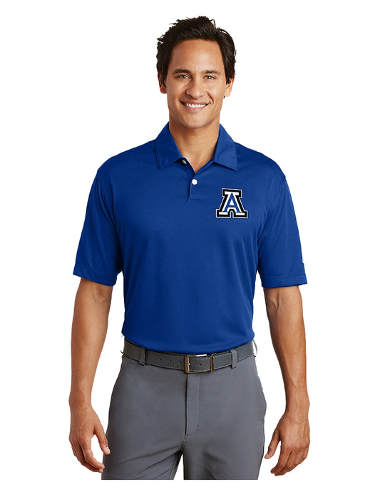 Nike Dri-FIT Pebble Texture Polo Royal with Embroidered Acalanes
