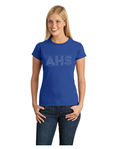 Gildan Softstyle® Junior Fit T-Shirt Royal with Screen Printed AHS logo