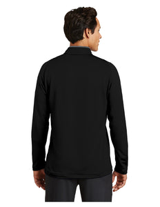 "Nike Dri-FIT Stretch 1/2-Zip Cover-Up Black/Grey with Embroidered Acalanes ""A"" Logo"