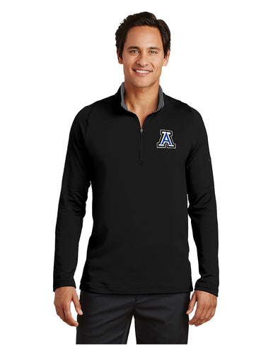 Nike Dri-FIT Stretch 1/2-Zip Cover-Up Black/Grey with Embroidered Acalanes