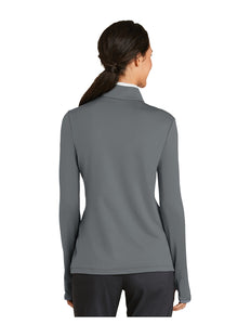 "Nike Ladies Dri-FIT Stretch 1/2-Zip Cover-Up Grey/White with Embroidered Acalanes ""A"" Logo"