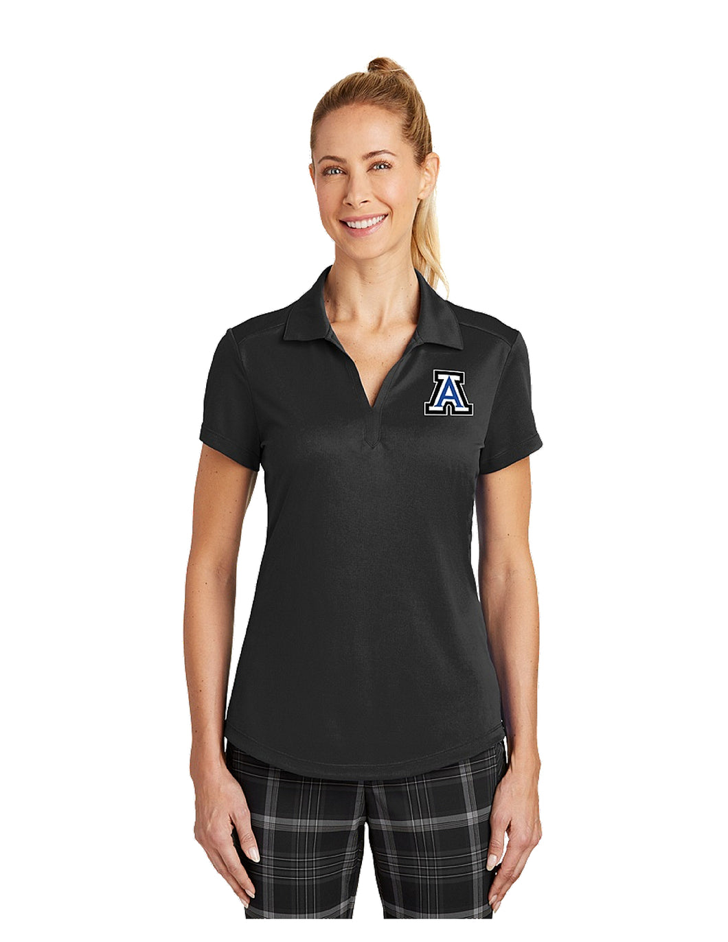 Nike Dri-FIT Legacy Ladies Polo Black with Embroidered Acalanes
