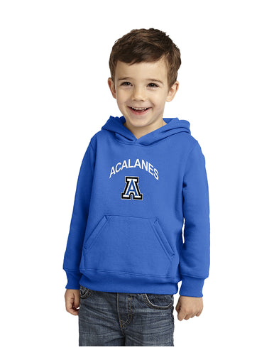 Port & Company® Toddler Pullover Hooded Sweatshirt Royal with Screen Printed Acalanes Arch Logo