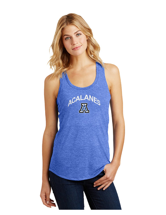 District Made® Ladies Perfect Tri® Racerback Tank with Screen Printed Acalanes Arch Logo