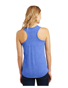 District Made® Ladies Perfect Tri® Racerback Tank Heather Royal with Screen Printed Acalanes Arch Logo