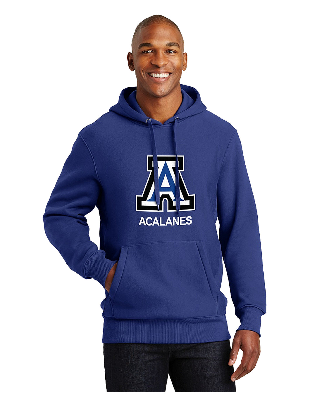 Sport-Tek® Super Heavyweight Pullover Hooded Sweatshirt Royal with Screen Printed Big Acalanes