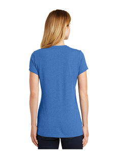 New Era® Ladies Heritage Blend Crew Royal Heather Tee with Screen Printed Bridge Logo