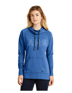 New Era® Ladies Tri-Blend Fleece Pullover Hoodie Royal with Screen Printed Acalanes AHS Logo