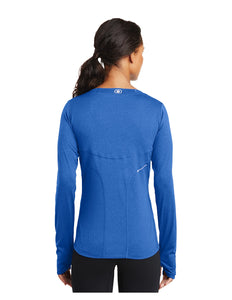 OGIO® ENDURANCE Ladies Long Sleeve Pulse Crew Electric Blue with Acalanes Arch Logo