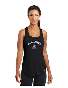 OGIO® ENDURANCE Ladies Racerback Pulse Tank Black with Screen Printed Acalanes Arch Logo