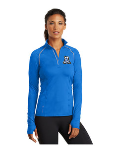 "OGIO® ENDURANCE Ladies Nexus 1/4-Zip Pullover Electric Blue with Embroidered Acalanes ""A"" logo"