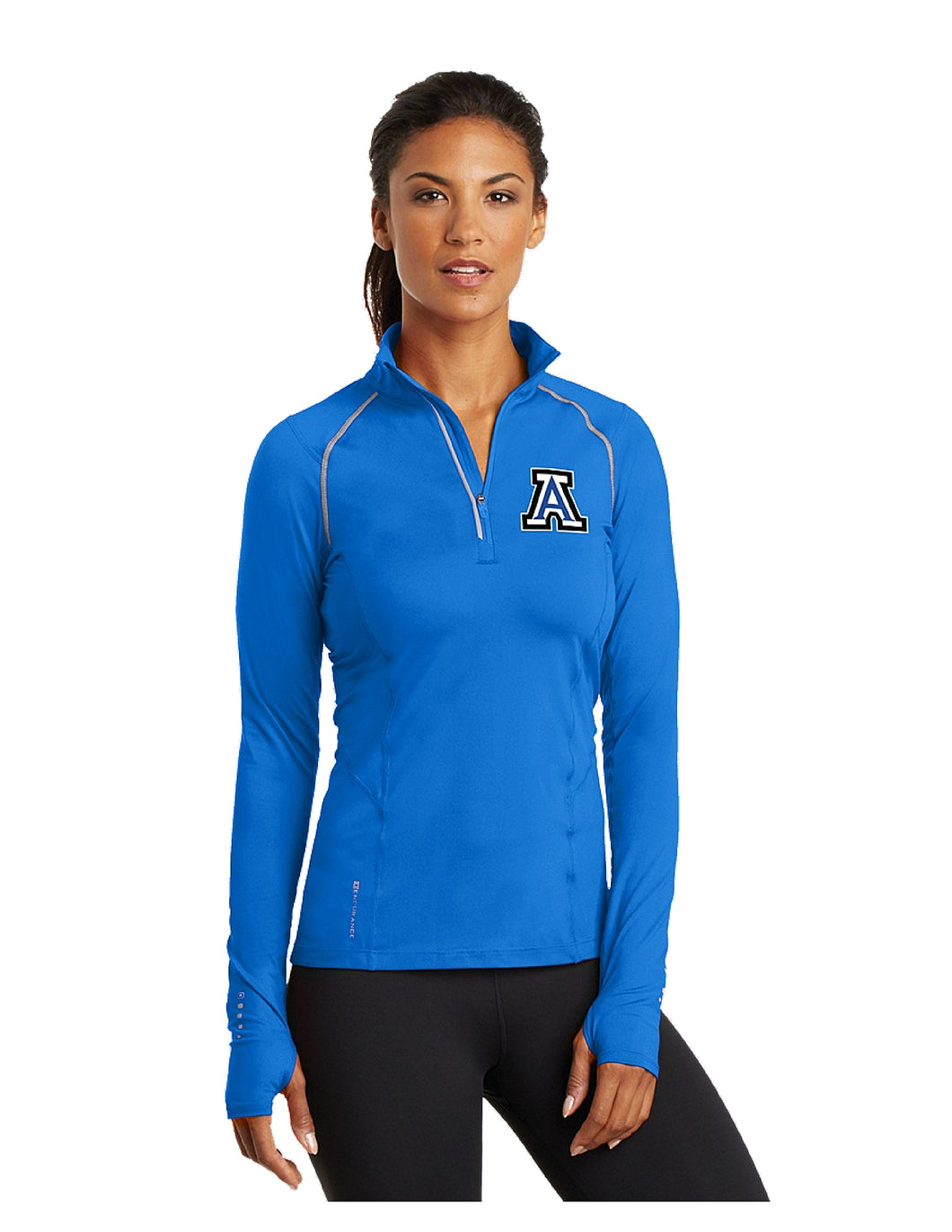 OGIO® ENDURANCE Ladies Nexus 1/4-Zip Pullover Electric Blue with Embroidered Acalanes