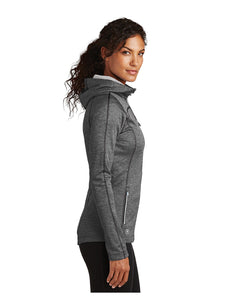 "OGIO® ENDURANCE Ladies Pursuit Full-Zip Hoodie Diesel Grey with Embroidered Acalanes ""A"" Logo"