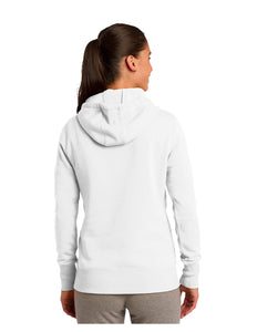Sport-Tek® Ladies Pullover Hooded Sweatshirt White with Screen Printed Acalanes Bridge Logo