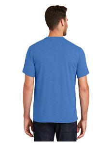 New Era® Heritage Blend Crew Tee Royal Heather with Screen Printed Acalanes Bridge Logo