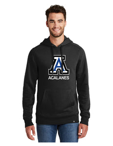 "New Era® French Terry Pullover Hoodie Black with Screen Printed Big Acalanes ""A"" Logo"