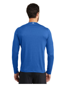 "OGIO® ENDURANCE Long Sleeve Pulse Crew Electric Blue with Screen Printed Small Acalanes ""A"" Logo"
