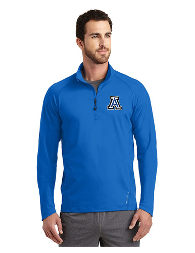 OGIO® ENDURANCE Radius 1/4-Zip Electric Blue with Embroidered Acalanes